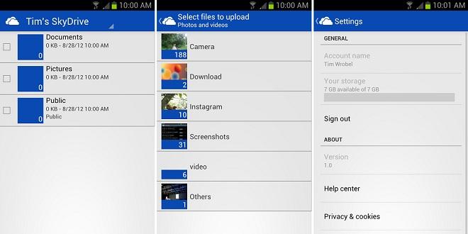 SkyDrive pentru Android